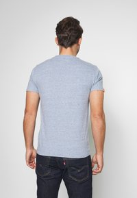 Superdry - LABEL VINTAGE TEE - Camiseta básica - flint blue grit - 2
