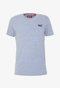 Superdry - LABEL VINTAGE TEE - Camiseta básica - flint blue grit - 4