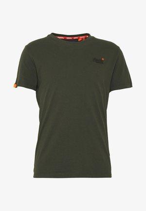 LABEL VINTAGE TEE - Camiseta básica - surplus goods olive