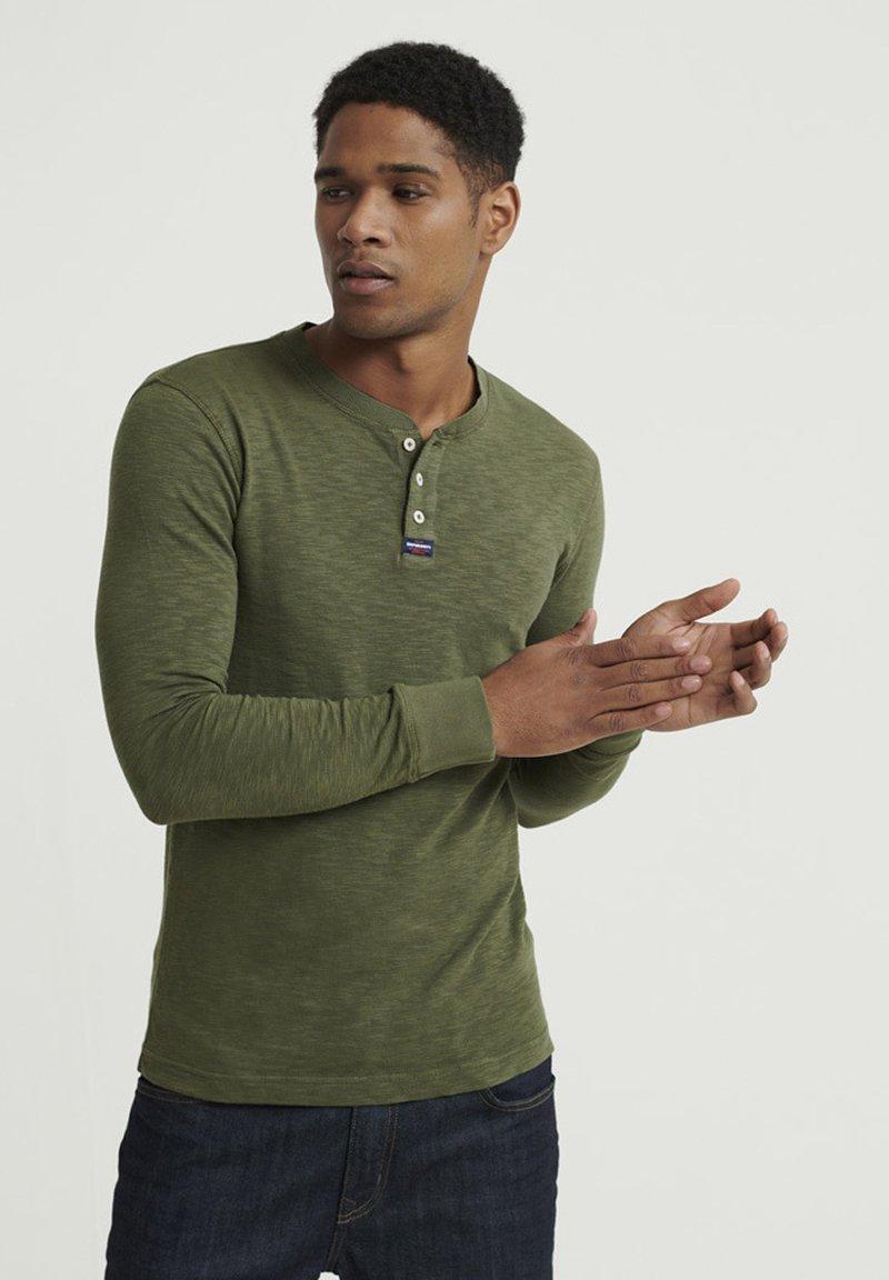 Superdry - LEGACY GRANDAD - Långärmad tröja - green