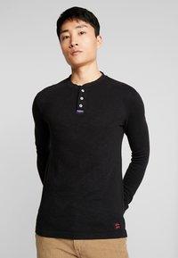 Superdry - LEGACY GRANDAD - Bluzka z długim rękawem - vintage black - 0