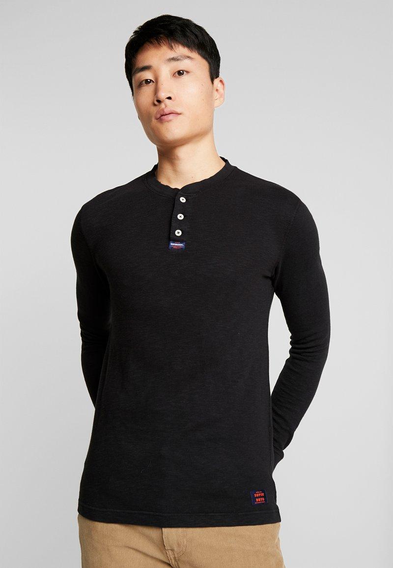 Superdry - LEGACY GRANDAD - Bluzka z długim rękawem - vintage black