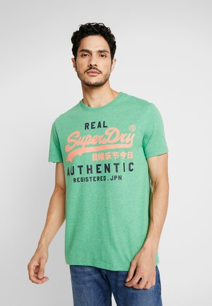 AUTHENTIC DUO TEE - T-shirt print - bright cirrus green grit