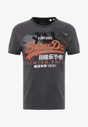 PREMIUM GOODS CAMO TEE - T-shirt print - vintage black
