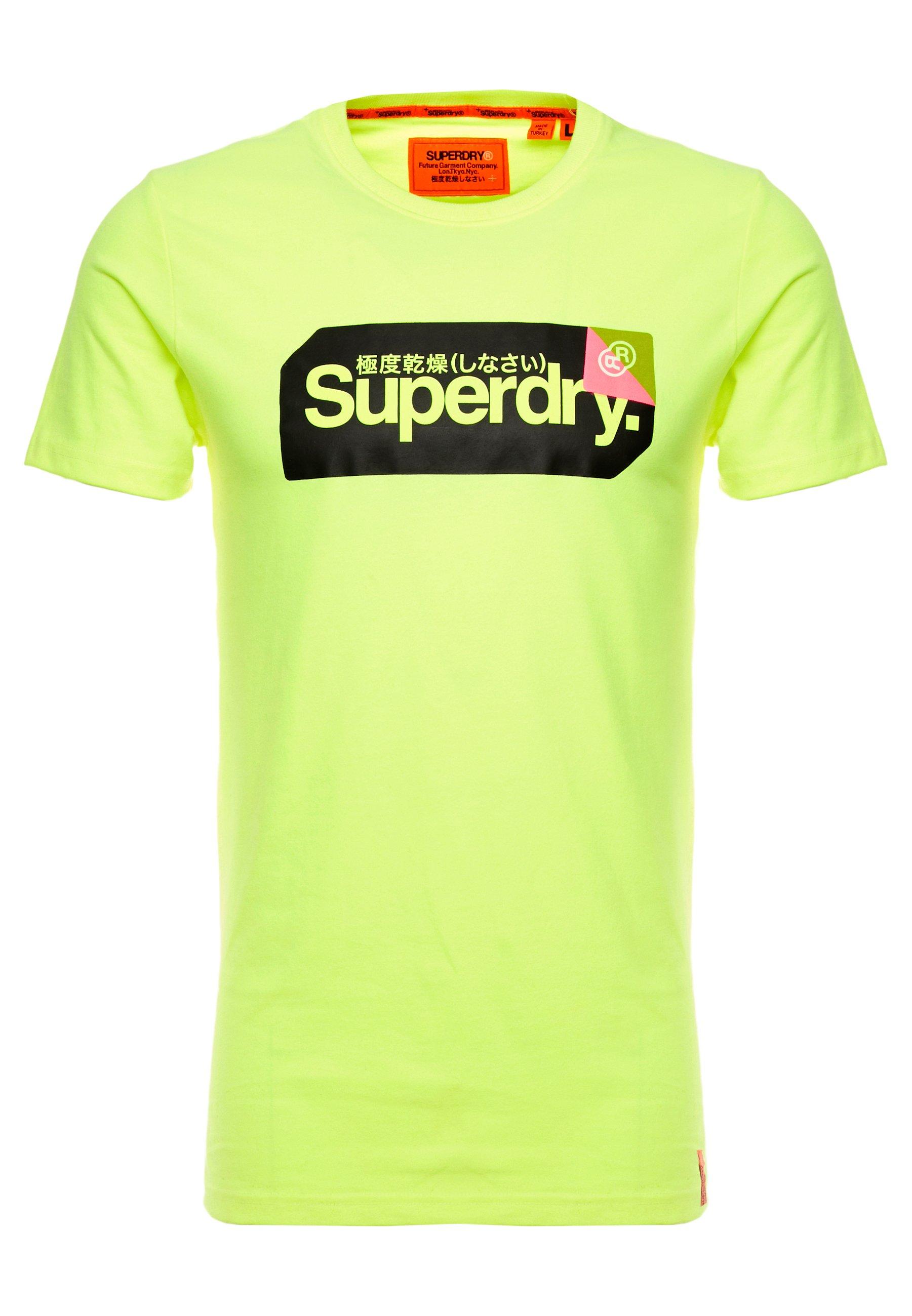 Superdry CORE LOGO TAG TEE - T-shirt z nadrukiem - highlight yellow