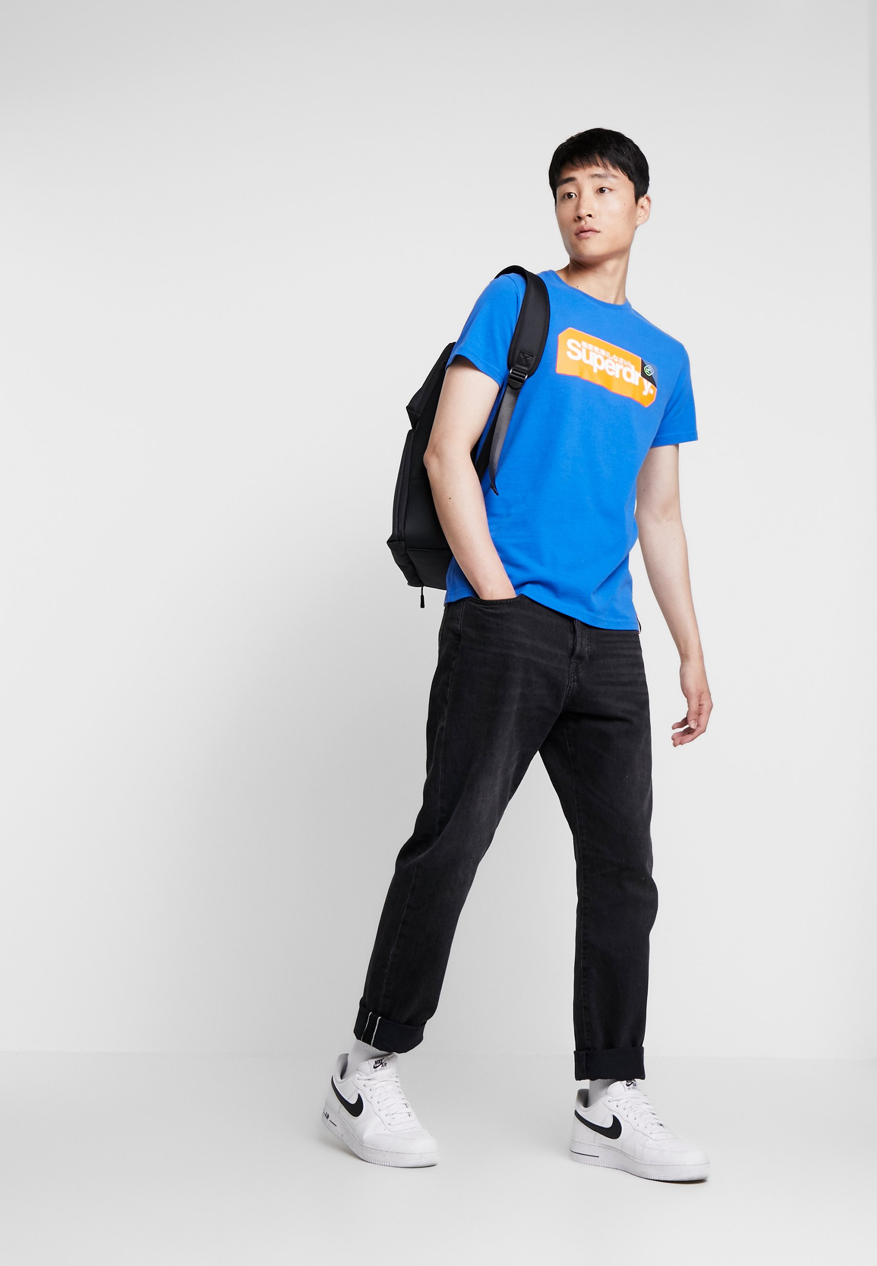 Superdry CORE LOGO TAG TEE - T-shirt z nadrukiem - royal blue