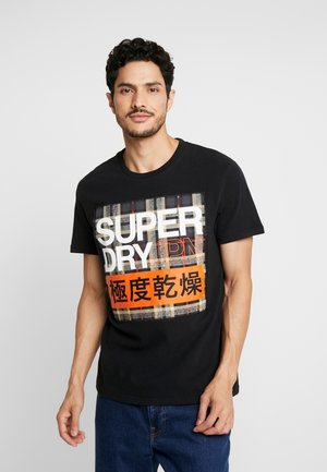 CRAFTED CHECK - T-shirt imprimé - black