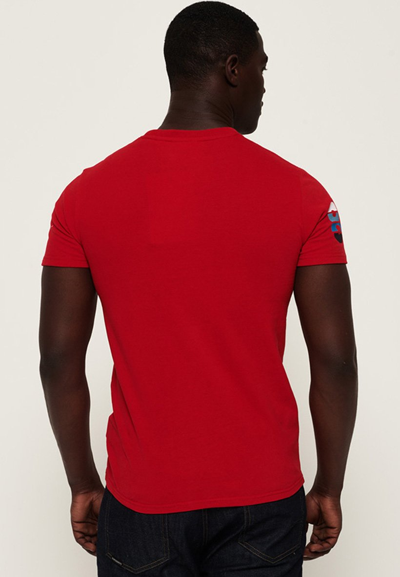 T Rouge Stampa shirt Superdry Red Con T3KclF1J