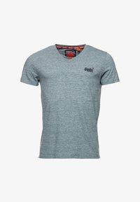 Superdry - T-shirt basic - creek blue grit grindle - 3