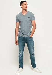 Superdry - T-shirt basic - creek blue grit grindle - 1