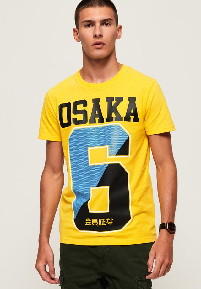 OSAKA - T-shirt print - yellow