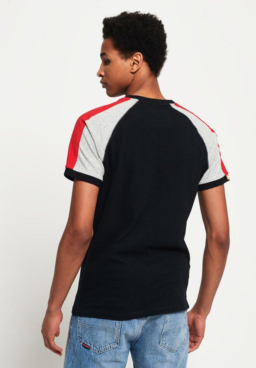 Superdry ORANGE LABEL - Camiseta estampada black