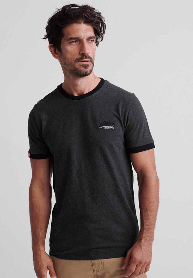 Superdry - ORANGE LABEL - T-Shirt basic - dark nordic charcoal