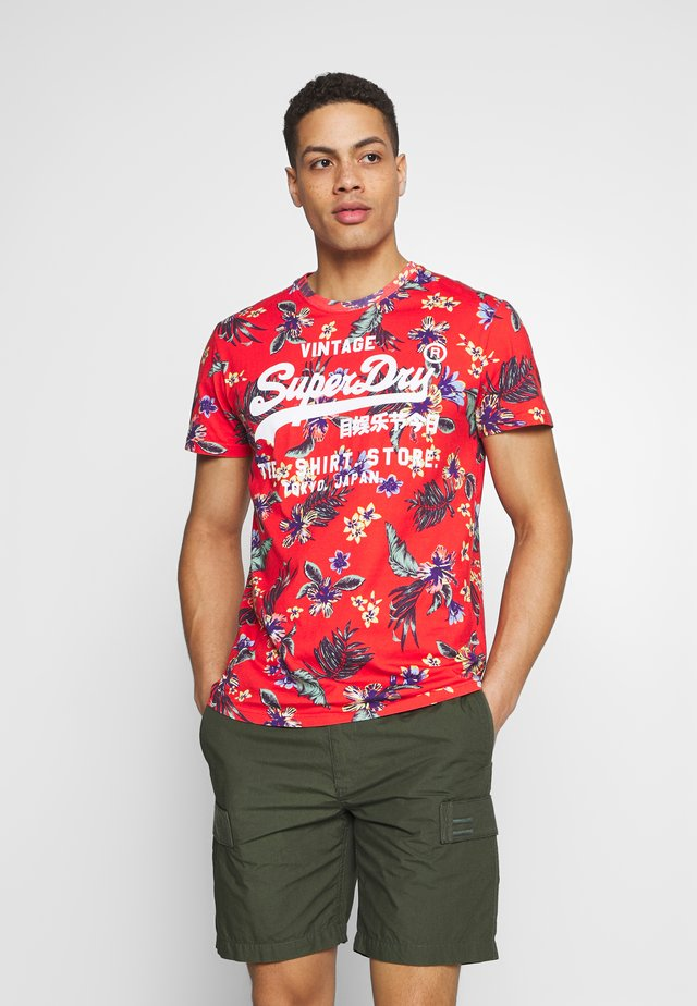 SUPER TEE - T-shirt print - red