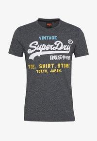 Superdry - SHOP TRI TEE - T-shirt print - classic blue feeder - 3