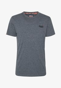 Superdry - VINTAGE CREW - T-shirt basic - blue grindle - 4