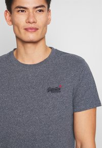 Superdry - VINTAGE CREW - T-shirt basic - blue grindle - 5