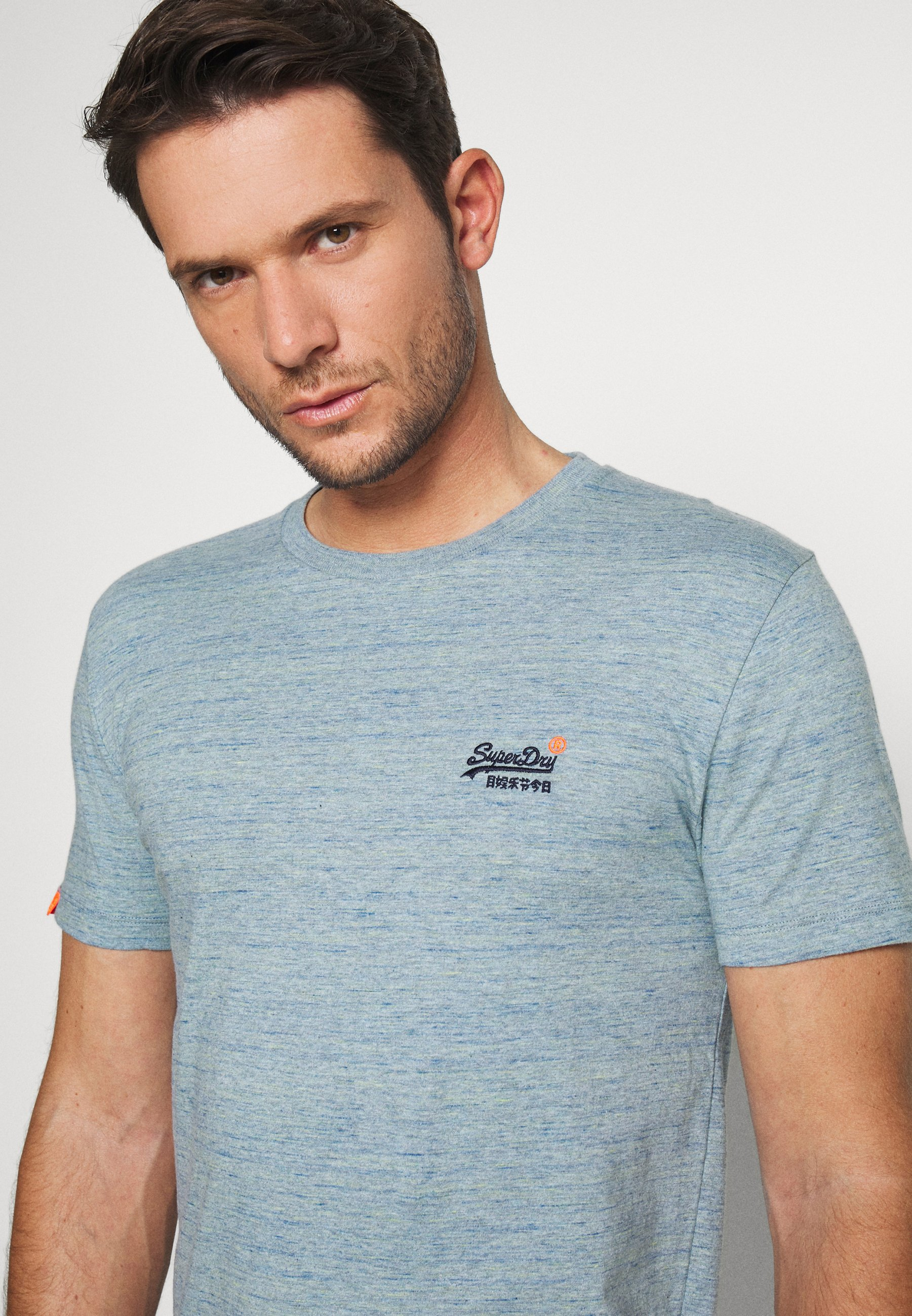 Superdry ORANGE LABEL LITE TEE - T-shirts basic - dry slate blue