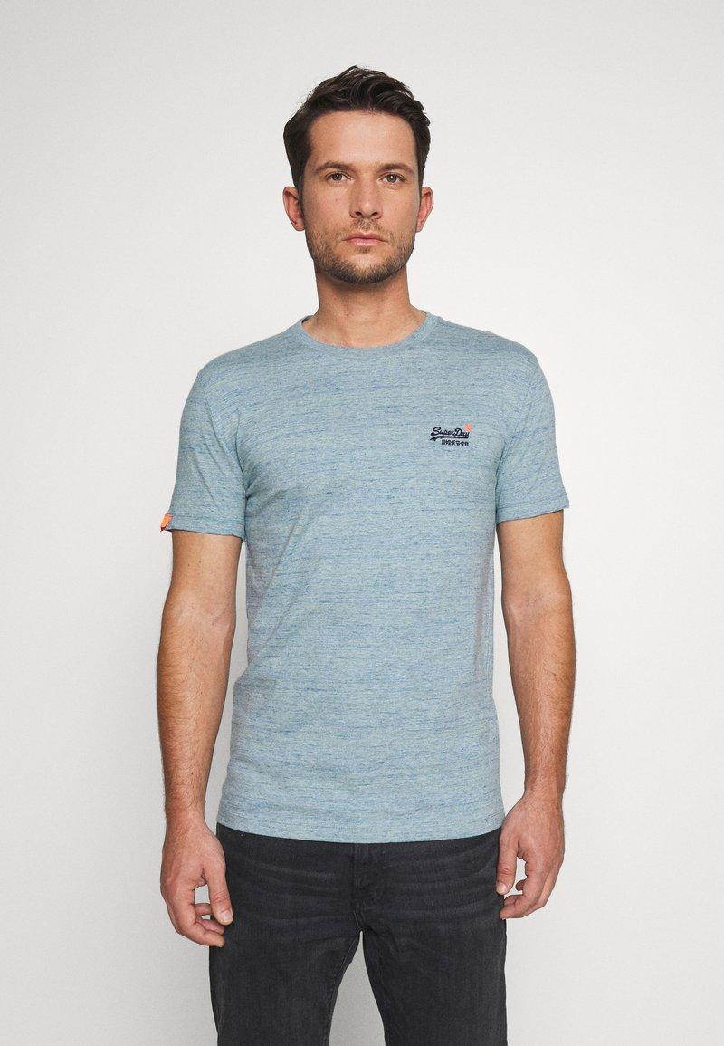 Superdry - VINTAGE CREW - T-shirt basic - sky blue