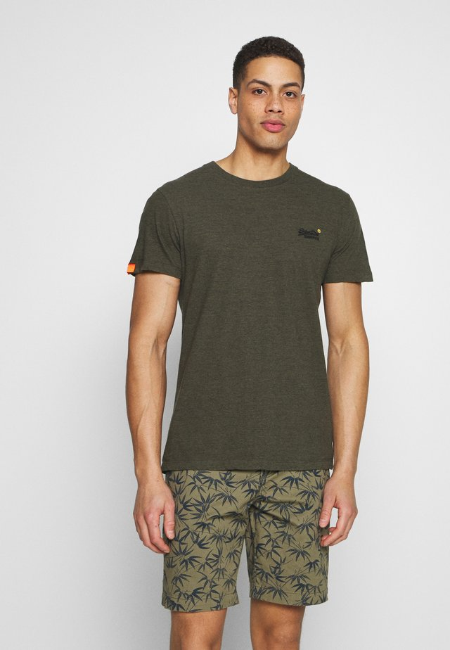 VINTAGE CREW - T-shirts basic - desert olive/space dye
