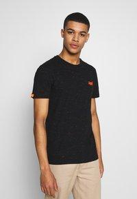 Superdry - VINTAGE CREW - T-shirt basic - black - 0