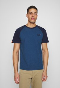 Superdry - OL CLASSIC SS BASEBALL TEE - Camiseta estampada - rich blue - 0