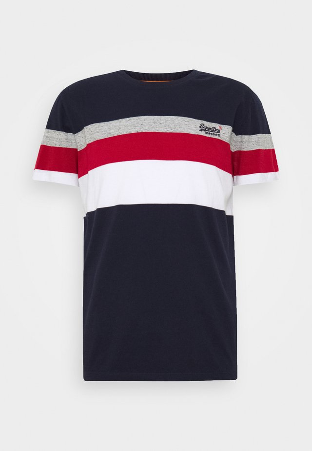 CLASSIC STRIPE TEE - T-shirt con stampa - rich navy