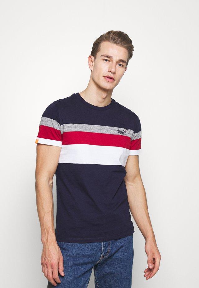 CLASSIC STRIPE TEE - T-shirt print - rich navy