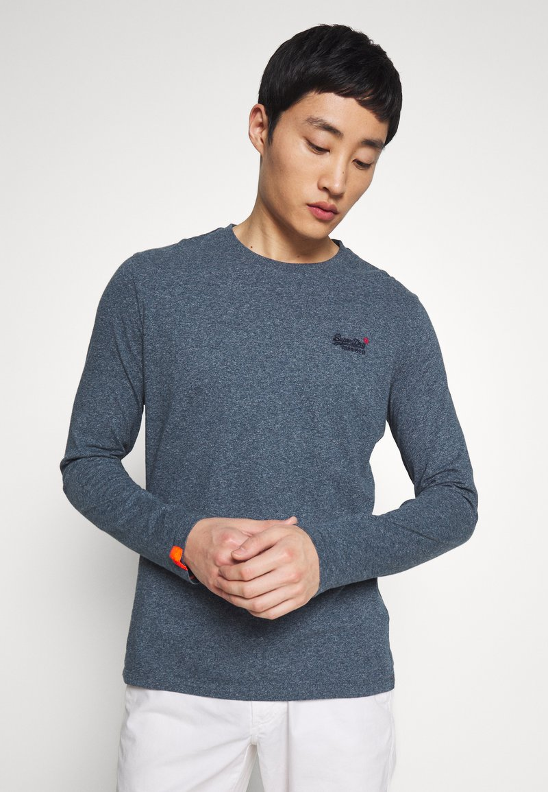 Superdry - OL VINTAGE EMB  - Camiseta de manga larga - blue grindle