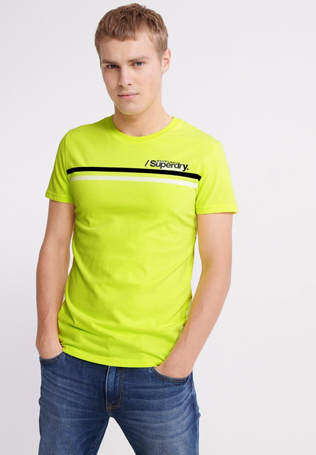 CORE LOGO SPORT STRIPE TEE - T-shirt print - yellow