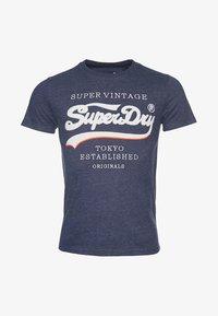 Superdry - SUPER VINTAGE - T-shirt print - eclipse navy - 4
