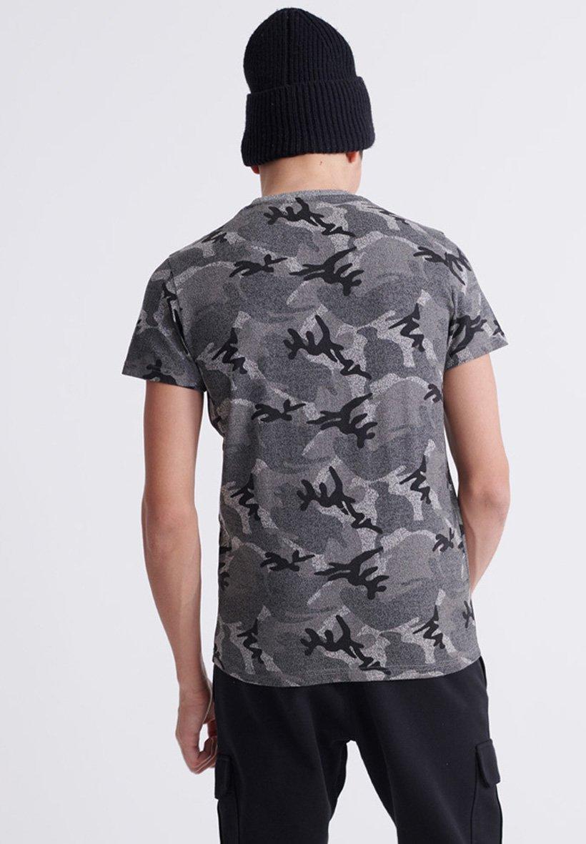 Superdry T-shirt Med Print - Black