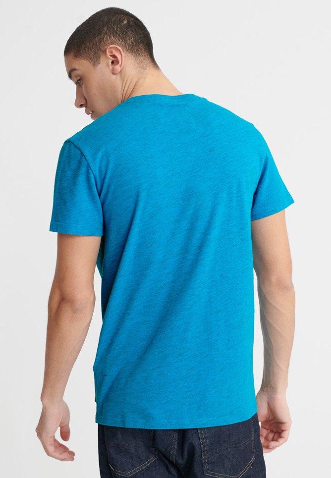 Superdry MALIBU  - T-shirt med print - blue - Herrkläder Rabatter