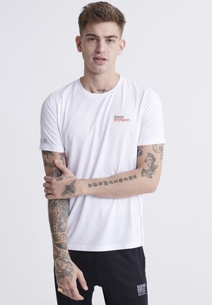 SUPERDRY TRAINING T-SHIRT - T-shirt con stampa - white