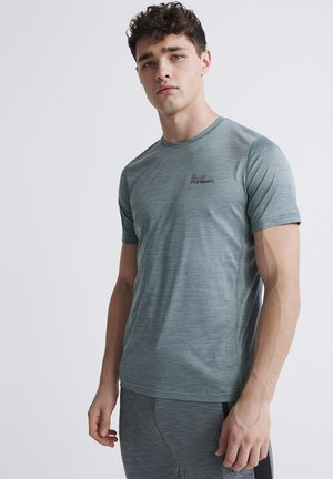 SUPERDRY TRAINING T-SHIRT - Print T-shirt - green