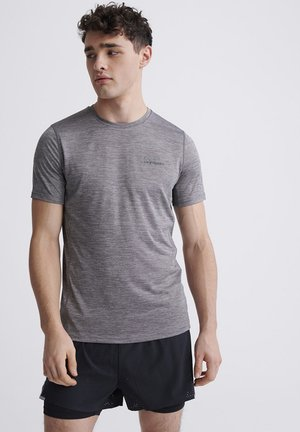 SUPERDRY TRAINING T-SHIRT - Print T-shirt - light grey