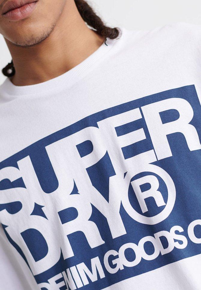 Superdry T-shirt À Manches Longues - White