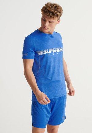 SUPERDRY TRAINING LIGHTWEIGHT T-SHIRT - Print T-shirt - 70's blue marl