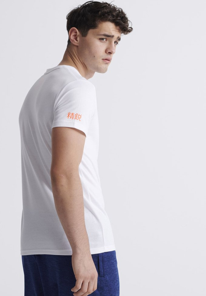 Superdry CORE - T-shirt con stampa - white