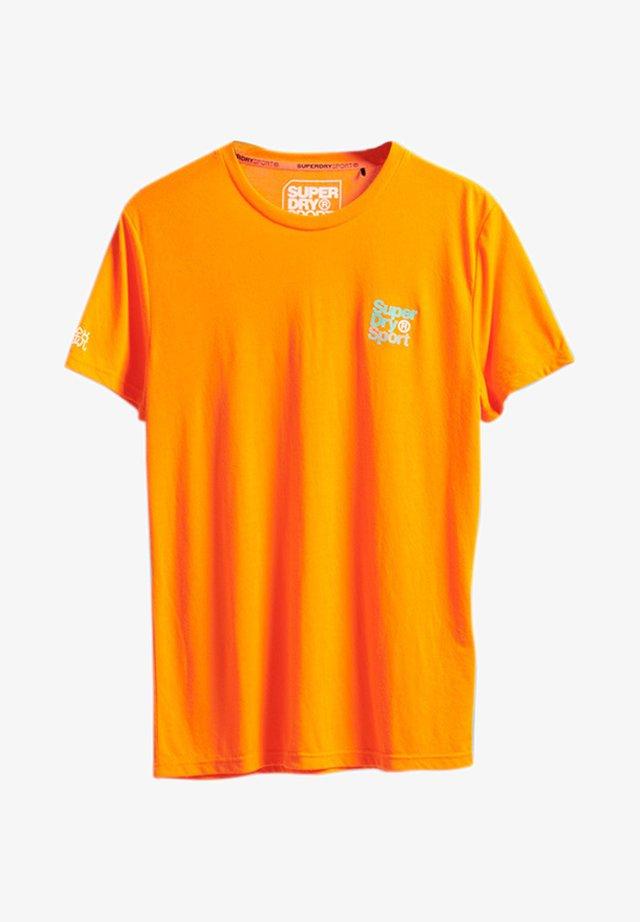 Print T-shirt - bright havana orange
