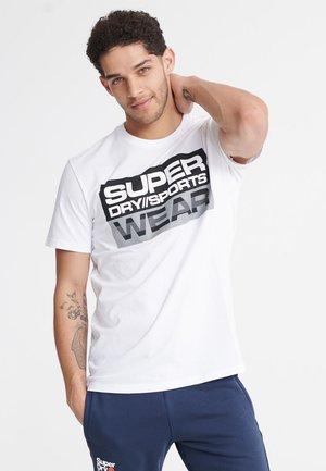 SUPERDRY STREETSPORT GRAPHIC T-SHIRT - T-shirts print - white