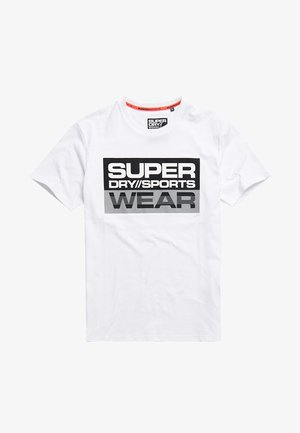 SUPERDRY STREETSPORT GRAPHIC T-SHIRT - Printtipaita - white