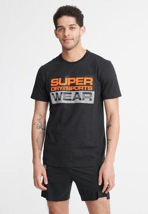 SUPERDRY STREETSPORT GRAPHIC T-SHIRT - T-shirt print - black