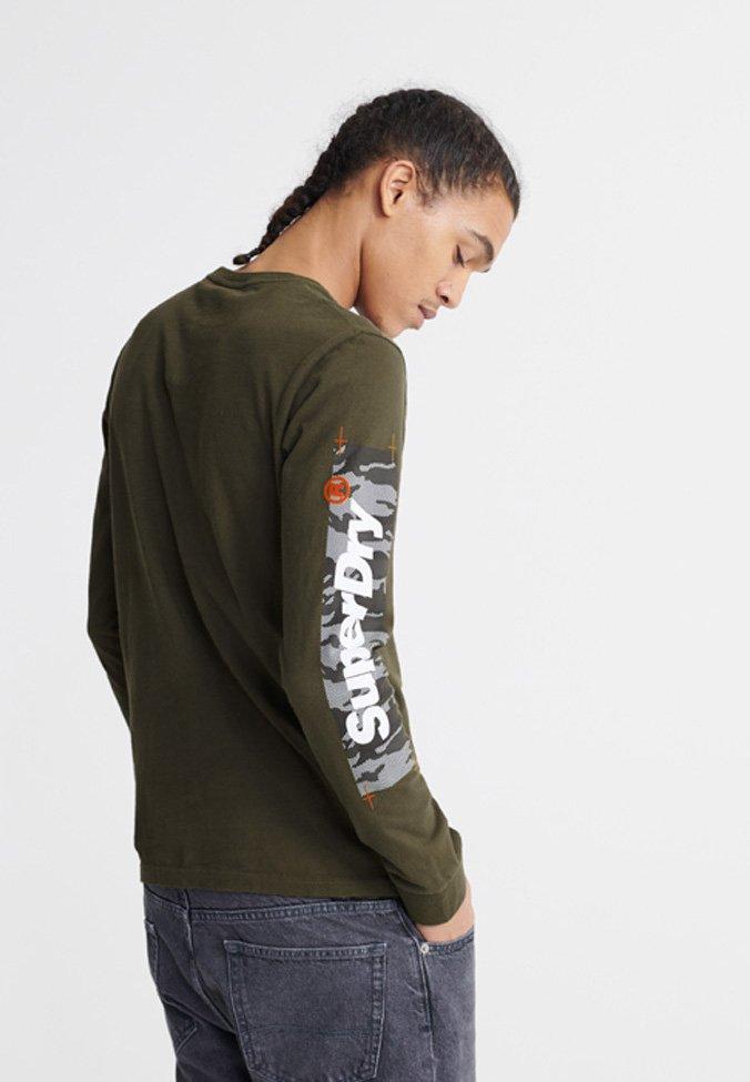 Superdry CHROMATIC  - Langærmede T-shirts - green - Tøj Til Herrer Salg
