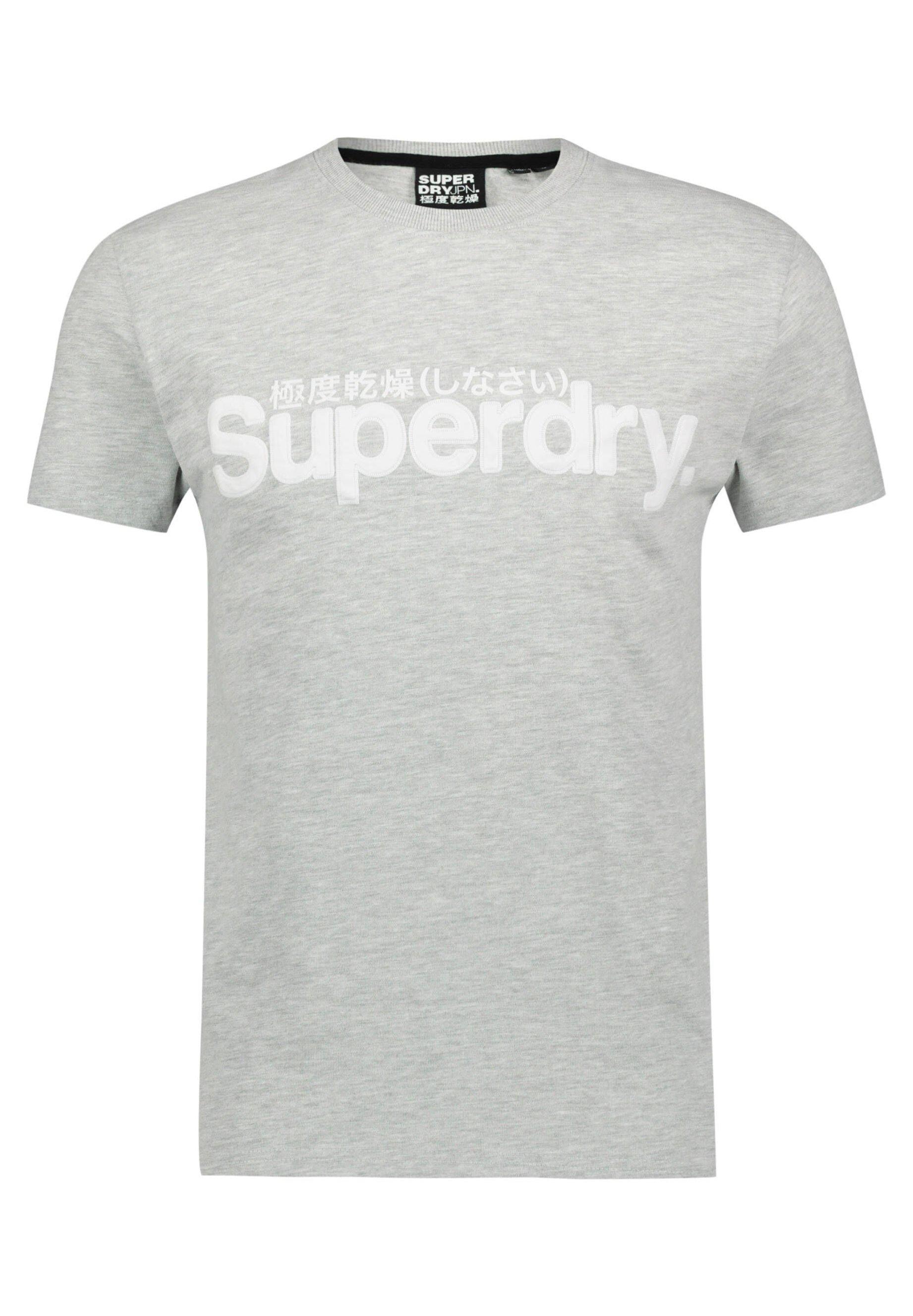 SUPERDRY CORE FAUX SUEDE T SHIRT T shirt print mittelgrau (230)