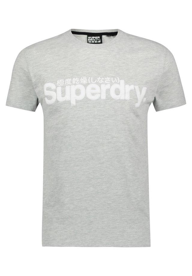 SUPERDRY CORE FAUX SUEDE T-SHIRT - T-shirt print - mittelgrau (230)