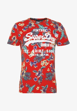 TEE - T-shirt imprimé - vintage red