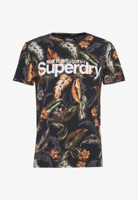 Superdry - TEE - T-shirt med print - indo navy - 4