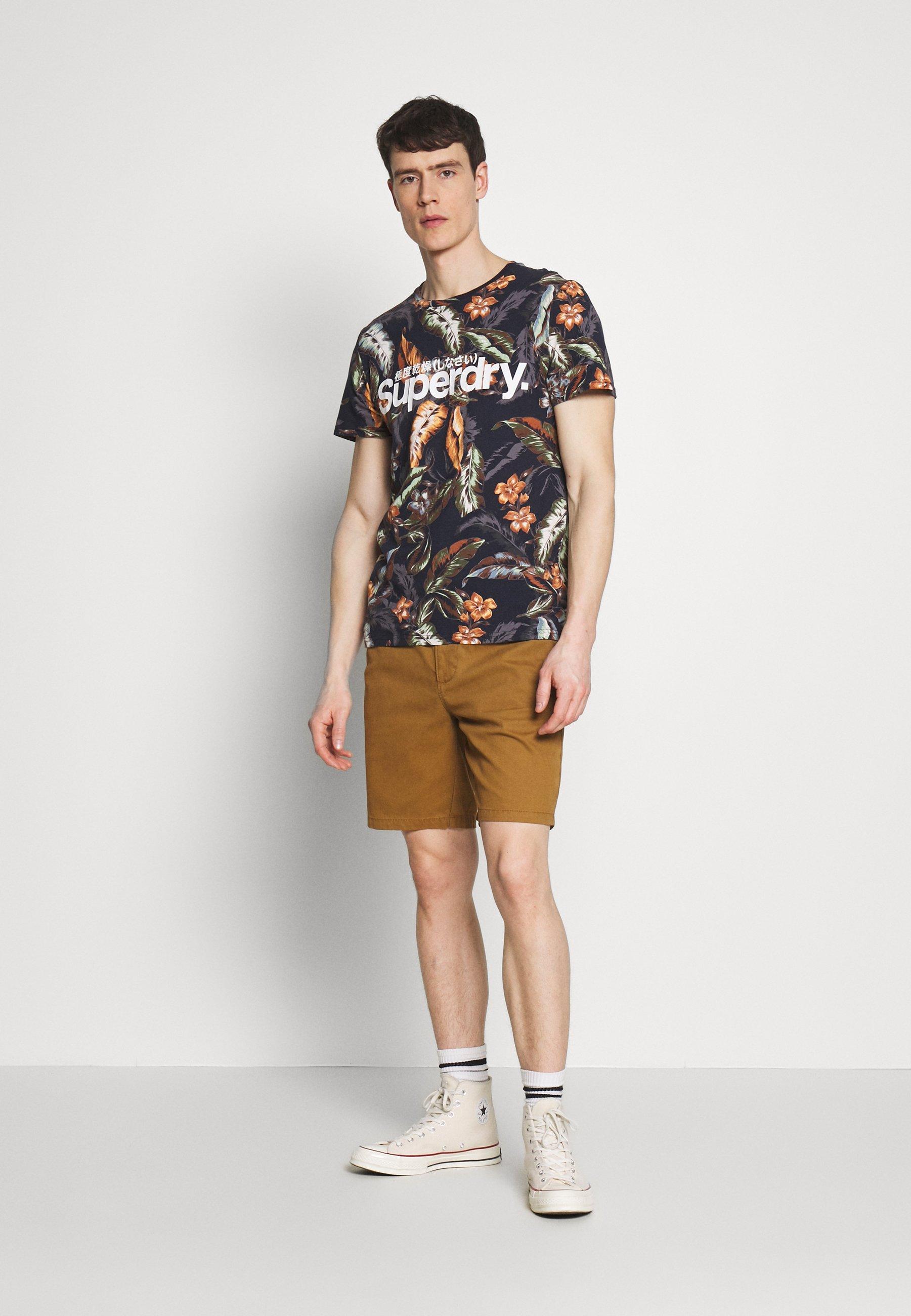 Superdry TEE - T-shirt z nadrukiem - indo navy