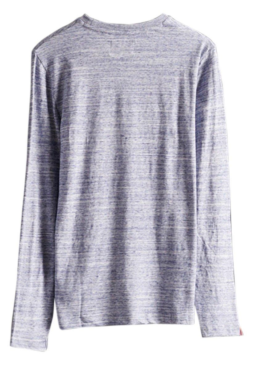 Superdry Langærmede T-shirts - Mist Blue Space Dye
